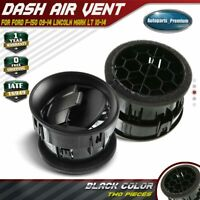 2x Black Dash Heater Air Vent for Ford F-150 Lincoln Mark LT 09-14 9L3Z-19893-AA