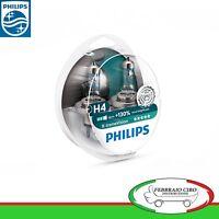 2 Lampade Philips H4 X-Treme Vision +130% Alta Visibilità Lampade Fari Auto Moto