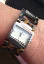 Vera Bradley Kensington Tortoise Shell Quartz Watch With New Battery Works