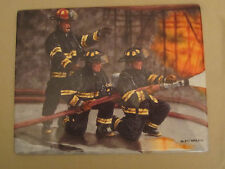 Duty - Firemen collector plate Commitment To Courage Firefighters Glen Green