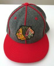 Mitchell & Ness Chicago Blackhawks Wool Hat Snapback Cap Sz 7 1/4 NHL Mens