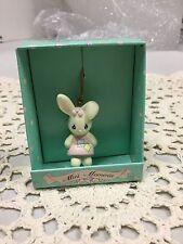 2 1994 Precious Moments 551724 Mini Moments Enesco Bunny Ornaments