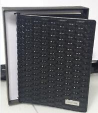 Michael Kors Jet Set Embossed leather Passport Mk Logo Card holder Wallet Black