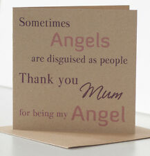 Mother's Day Card. Thank you Mum Card. Rustic Angel Mothers Day Card for Mum.
