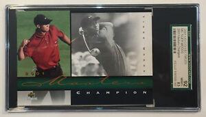 2001 Tiger Woods Masters Championship Foil Card Graded SGC 92