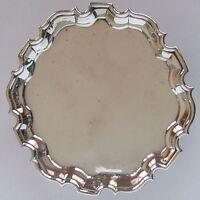 GOOD ANTIQUE GEORGE II, ENGLISH STERLING SILVER TRAY HALLMARKED LONDON c1735