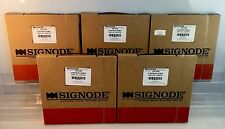 """Lot of 5 Boxes Signode Black Plastic Strapping 7/16"""" 200ft HD723B Part #2X1677G"""