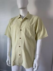 Men's TOMMY BAHAMA SILK SHIRT Size L Large ~ TEXTURED Great Condition LOW PRICE