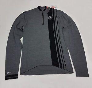 Castelli Winter Costante Men's Long Sleeve Cycling Wool Jersey Grey Size 2XL