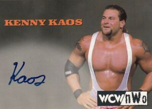 1998 Topps Wresting WCW/nWO Trading Card Authentic Signature Card Kenny Kaos