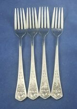 "Oxford Hall QUEENS TAPESTRY (stainless) Dinner Fork 7 5/8"" Set of 4"