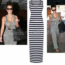 Round Neck Striped Regular Size Dresses for Women