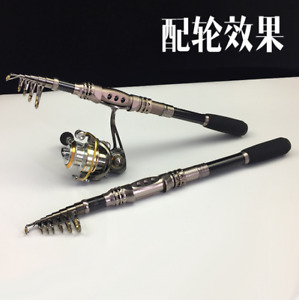 High Carbon Telescopic Spinning Casting Pole Saltwater Sea Fishing Rods 30-60g