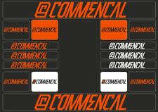 COMMENCAL Mountain Bicycle Frame Decal Sticker Graphic Adhesive Set Vinyl Orange
