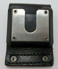 Motorola Police Security Radio Belt Holder Swivel Clip Black Leather 25