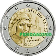 VATICAN 2021 COFFRET NEUF 2 EURO DANTE ALIGHIERI BU UNC FDC VATIKAN VATICANO