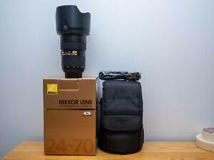 Nikon Zoom-Nikkor 24-70mm f/2.8 ED G AF-S Lens with box