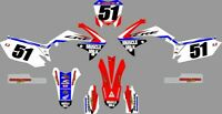 NEW DIRTX INDUSTRIES CUSTOM MUSCLE MILK COMPLETE GRAPHICS KIT CRF450 CRF 450