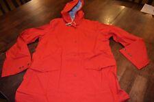 Woolrich Women's Classic Waterproof Raincoat Size Medium Red