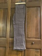 Vintage Denim Jeans Men's Pants Hippy Flare Bell Bottoms Snap Front 30 X 29