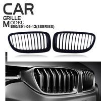 Front Kidney Grill Grille Matte Black For BMW E90 E91 LCI 325i 328i 4D 2009-11