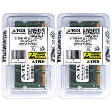 512MB 2 x 256MB SD Laptop Modules SDRam 133 Notebook 144p 144-pin Memory Ram Lot