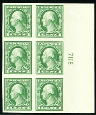 408, Mint NH XF 1¢ Plate Block of Six Stamps *- Stuart Katz