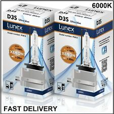 2 x D3S LUNEX XENON LÁMPARAS BOMBILLA compatible con 66340 9285304244 UPT 6000K