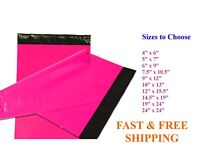 5-10,000 Poly Mailers Shipping Envelopes Sealing Hot Pink Plastic Mailing Bags