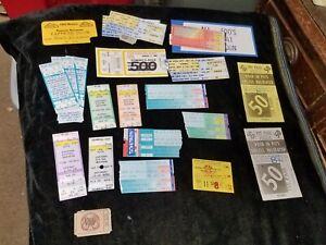 19 Assorted Vintage 1980's Nascar Car Racing Ticket Stubs Pocono PA Middletown