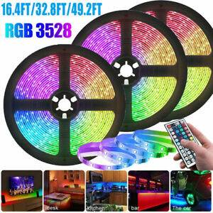 5-20M LED Strip Lights RGB Party Decor TV Lighting Colour Changing Tape Cabinet