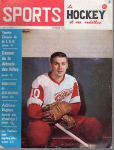 1964 (Nov.) Sports Le Hockey Magazine, Alex Delvecchio, Detroit Red Wings ~ Fair