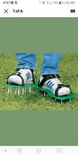 Spiked Pair Lawn Garden Aerator Aerating Sandals Shoes Adjustable Shoes Strap