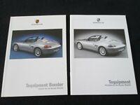 2000 Porsche Boxster &S 986 GERMAN Tequipment Brochure Accessories Catalog Seats