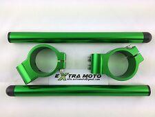 Kit semimanubri racing 50mm ergal CNC ALLUMINIO colore verde