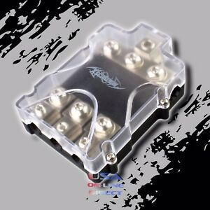 PLATINUM ANL FUSED DISTRIBUTION BLOCK 0/2 IN THREE 2/4 GAUGE AWG OUT CAR MARINE