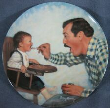 Open Wide A Father's Love Collector Plate Betsy Bradley Coa Vintage