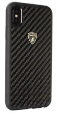 Original Lamborghini Elemento D3 Carbon Cover Case Apple iPhone X XS Schwarz