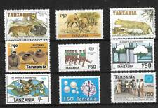 Postage Stamps - Tanzania  small collection of 9- c1980's mint#1330
