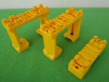 """LOT OF 3 TOMY THOMAS & FRIENDS YELLOW TRAIN TRACK SUPPORT RISERS - 3/4"""" & 2 1/2"""""""