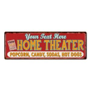 Personalized Home Theater Sign Gift Metal Movies Wall Decor Art 106180100001