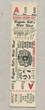 1974 Buffalo Bill's Wild West Show Ticket Unused Complete North Platte Nebraska