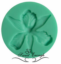 Orchid Flower Flexible Silicone Mould Mold Sugarcraft Cupcake Toppers Tools
