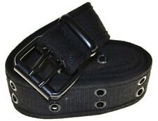 "Cotton Military Style Belt-black-medium-40""(#970)"