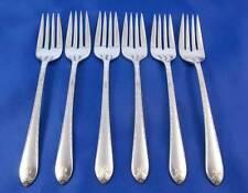 WM Rogers IS 1940 EXQUISITE Salad Dessert Forks Silverplate Flatware Set Of 6