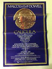 "Original 1979 Caligula one Sheet movie 27""x41"" poster Malcolm McDowell"