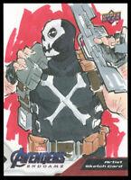 2020 Upper Deck Marvel Avengers Endgame Crossbones Sketch Card Ajhay Cerezo