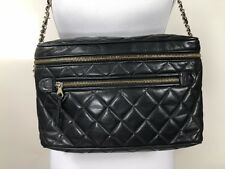 Rare! CHANEL Quilted Lambskin Leather Camera Purse Crossbody Bag Authentic