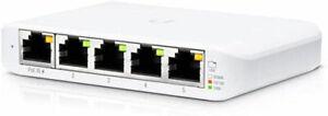 Ubiquiti USW-Flex-Mini UniFi Switch Compact Gigabit 5-Port 802.3af/at PoE-USW...