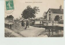 CPA ARGENVIERES (18) L' ECLUSE DU CANAL - ANIMEE
